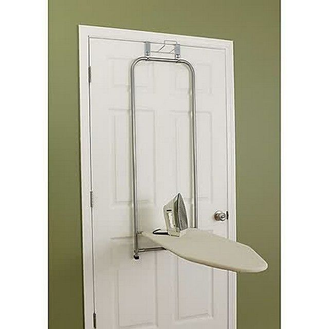 Featuring an efficient space-saving design the sleek Over-the-Door Ironing Board by Household Essentials\u0026reg; conveniently stores the board flush against ...  sc 1 st  Pinterest & Pin by Nancy on Plancha mural | Pinterest | Iron board Laundry room ...