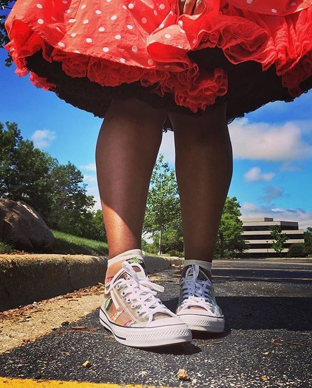 Loving this shot from @cherieshipwreck showing off her cute shoes and her…