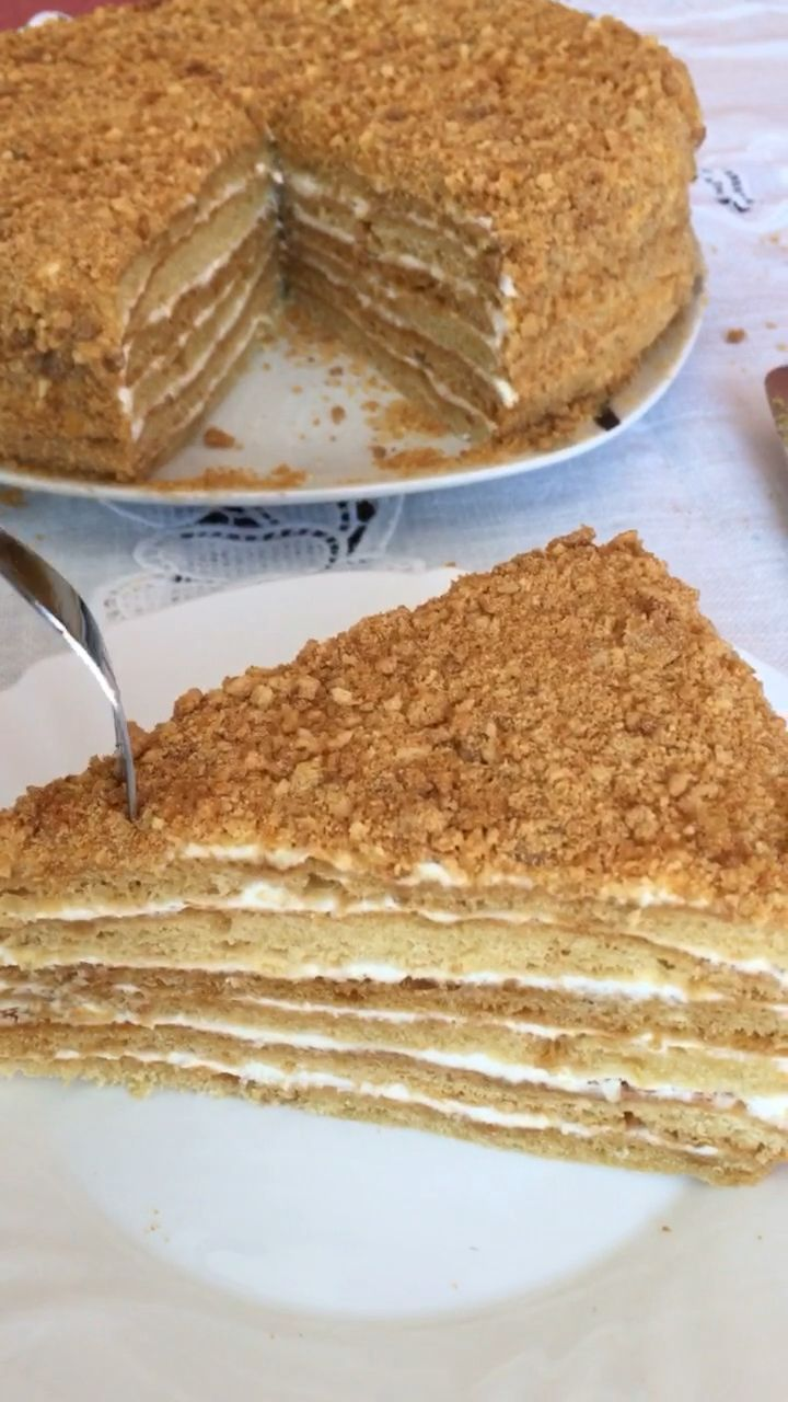 Honigtorte Posolskij – Rezept für russische Torte Vom Botschafter
