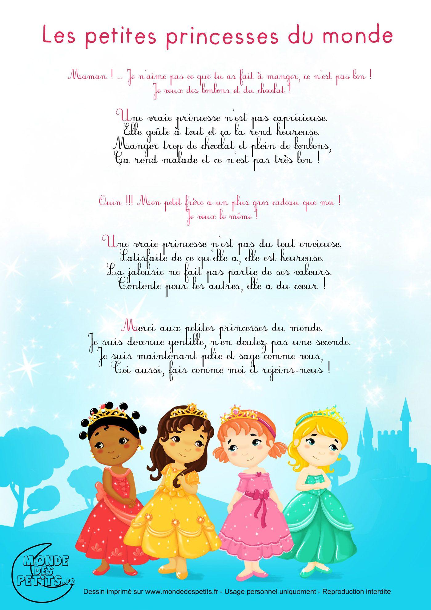 Paroles_Les petites princesses du monde, chanson pour ...