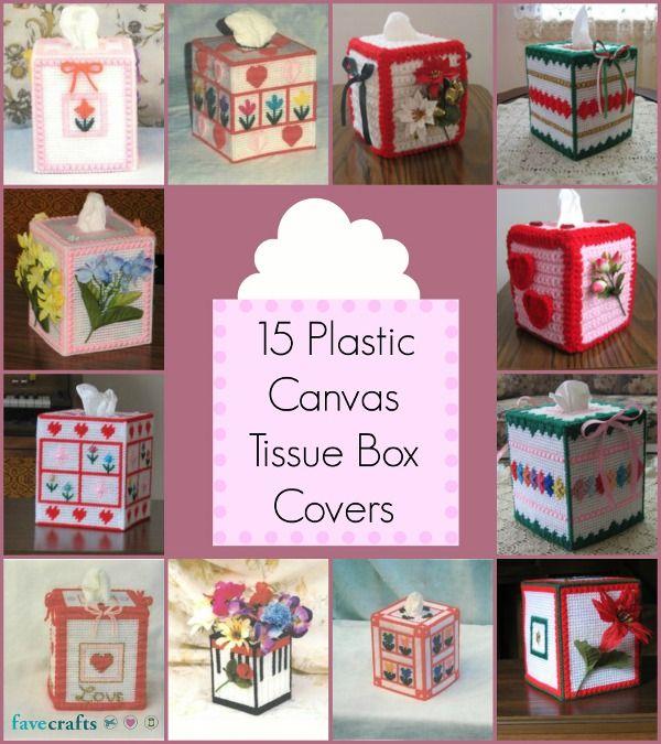 15 Plastic Canvas Tissue Box Covers | Plástico, Cajas de plástico y ...