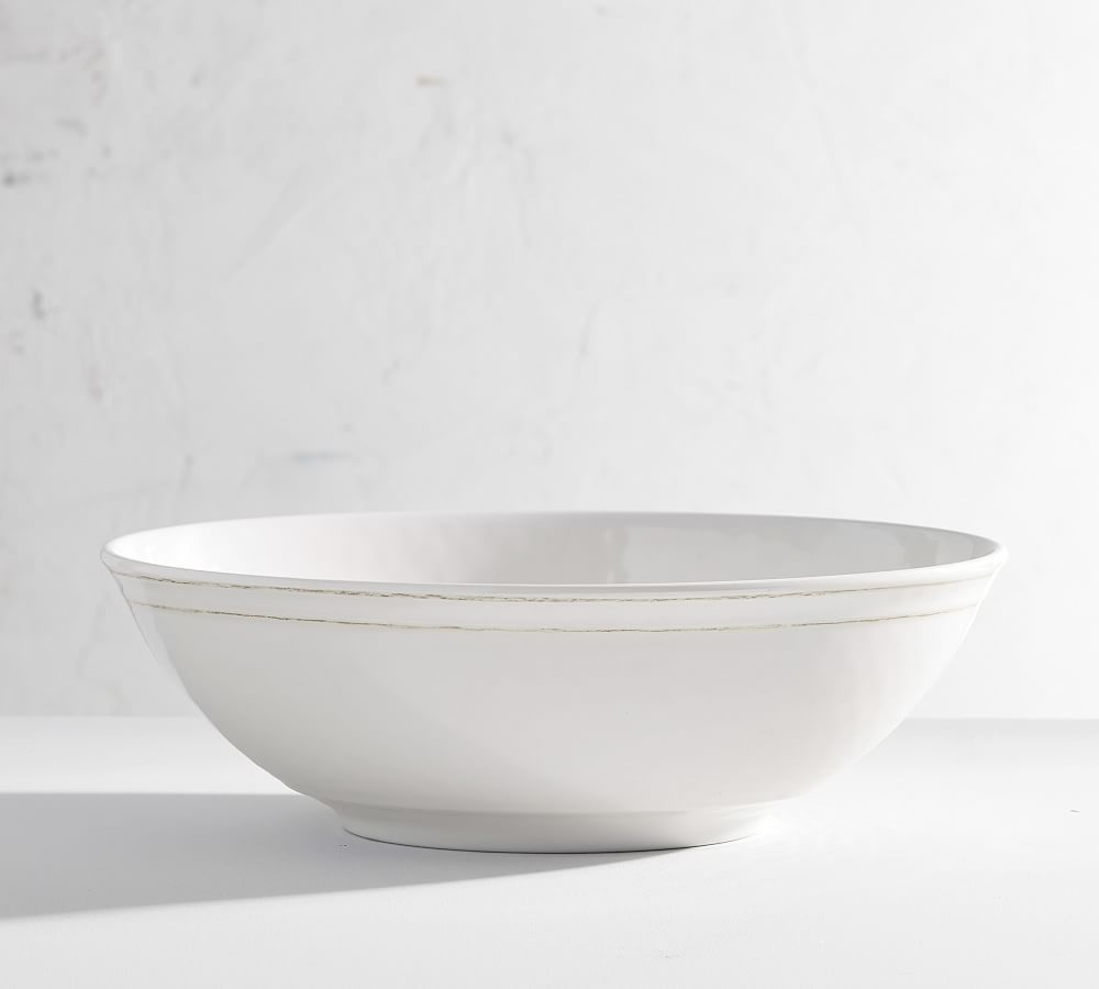 Cabana Melamine Oval Serving Bowl Pottery Barn Outdoor Dinnerware Dinnerware Pottery Rectangular Platter