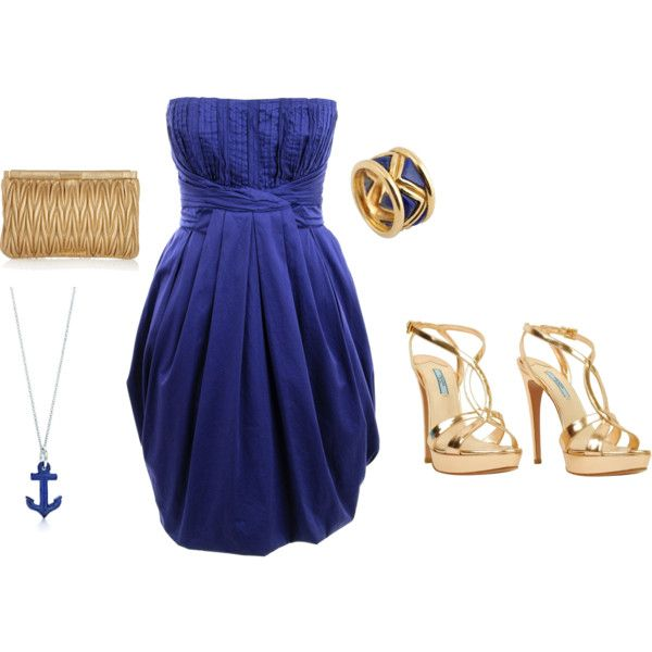Blue and Gold. birthday dress??