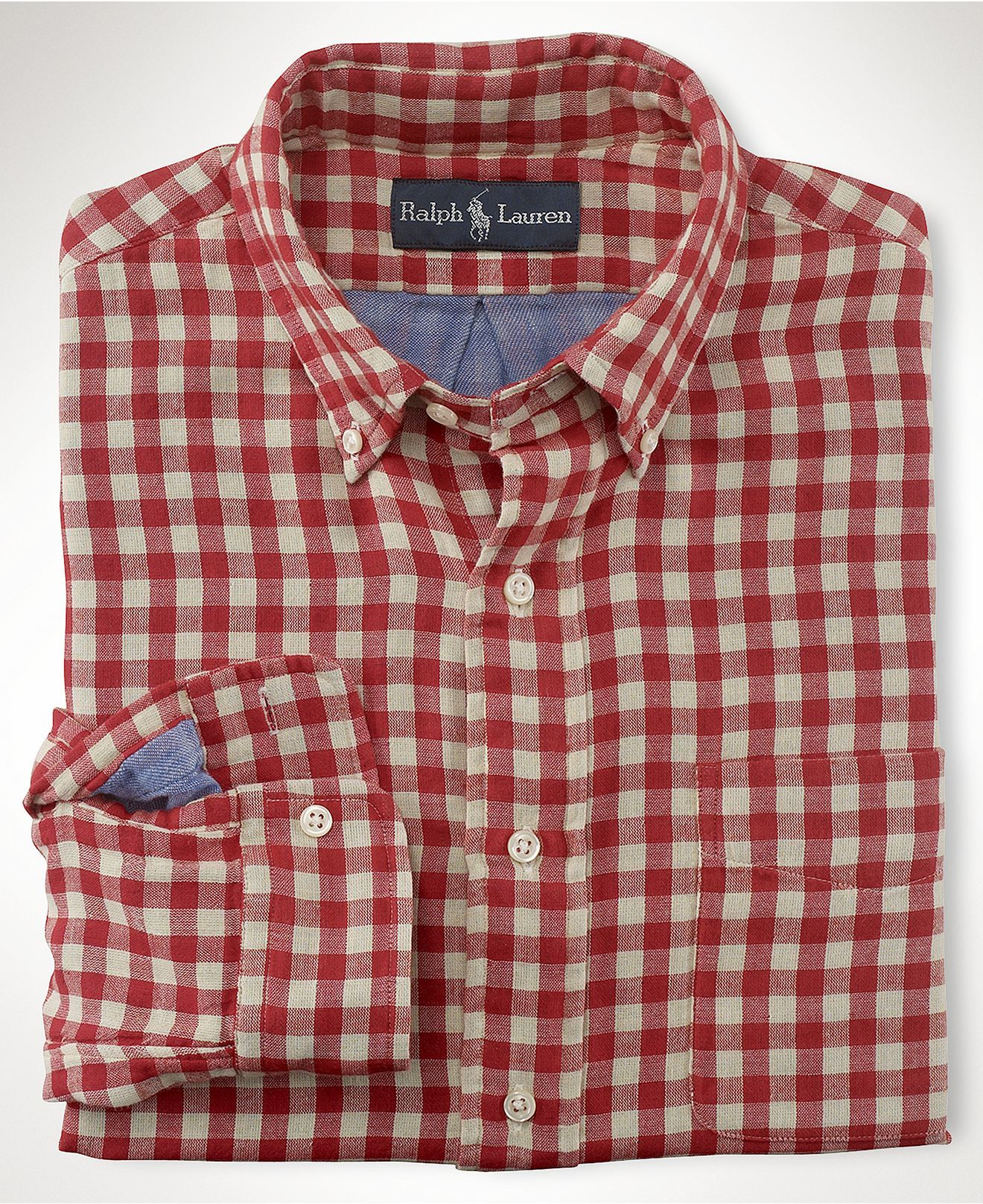 3136c3b684b Polo Ralph Lauren Shirt, Long Sleeved Custom Fit Gingham Shirt - Shirts -  Men - Macys