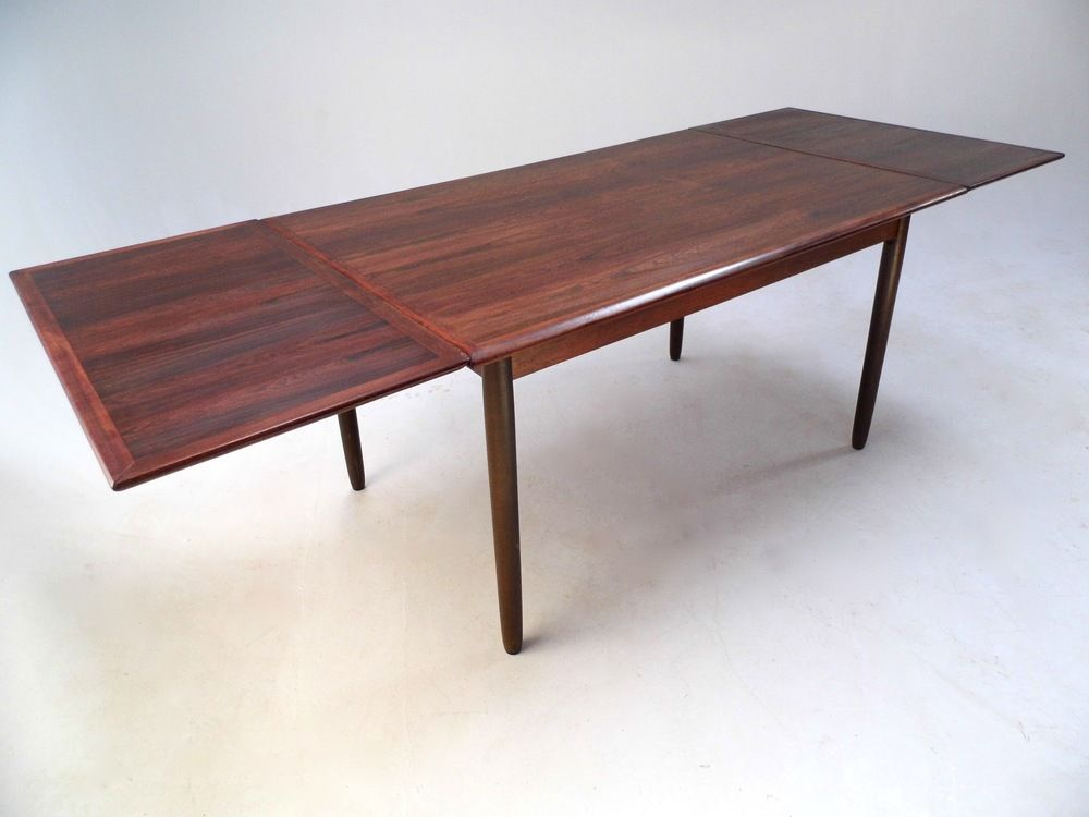 Mid Century Danish Rosewood Extending Dining Table 1960s Dining