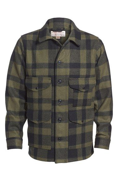 79194999bbe3d Filson 'Mackinaw Cruiser - Seattle Fit' Wool Jacket   Filson Jackets ...