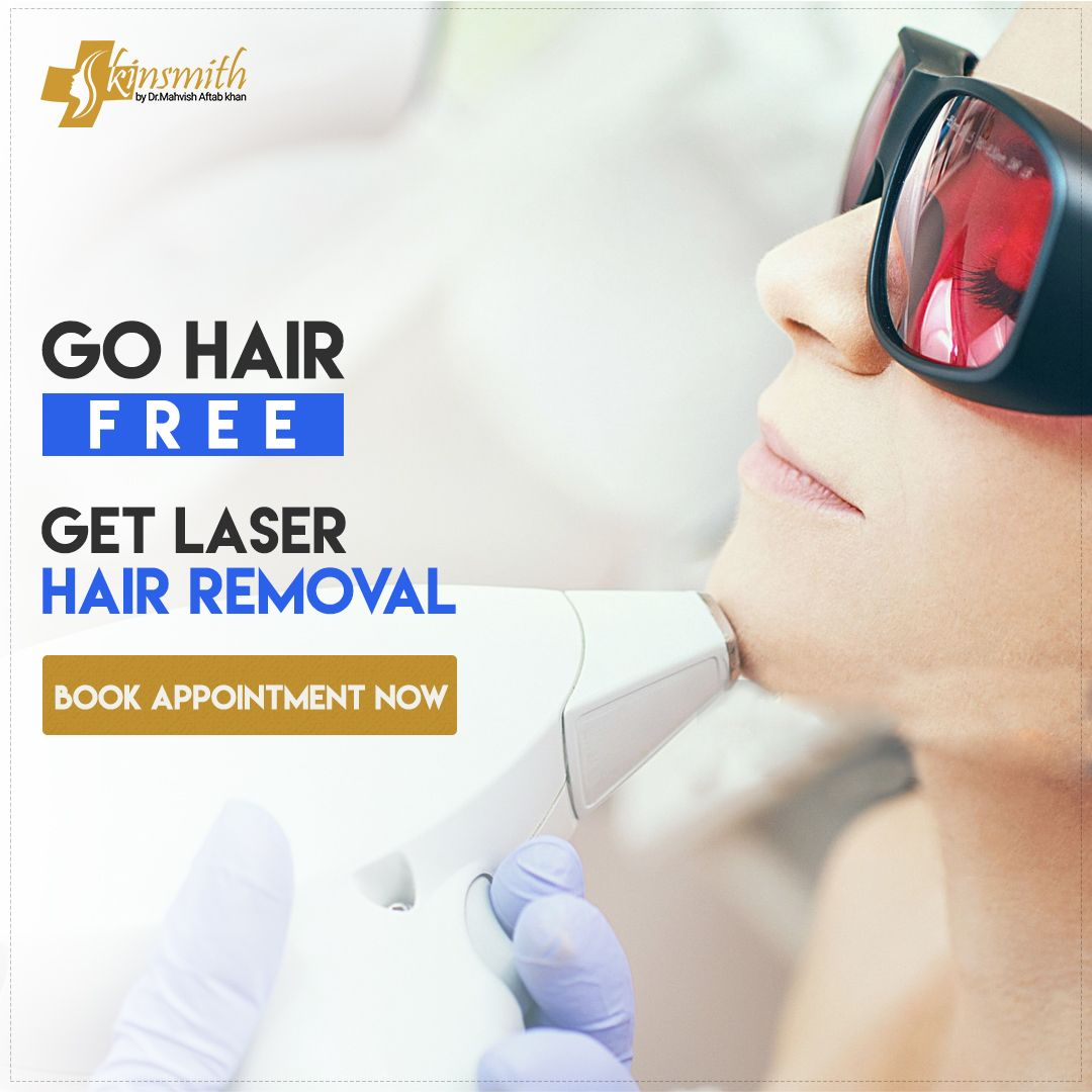 Laser can get you permanent removal of body and unwanted