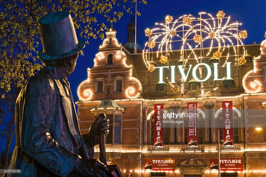 Copenhagen Tivoli Gardens amusement park Hans Christian Andersen