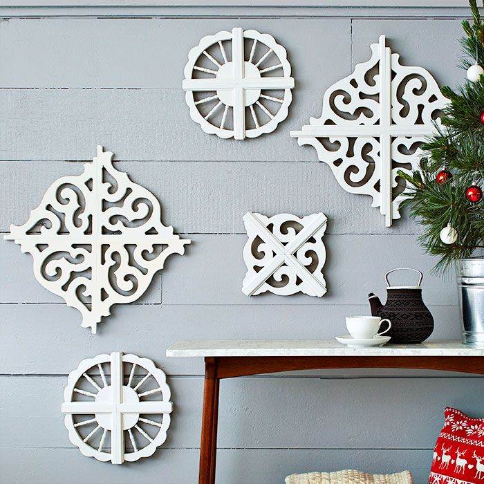Christmas Tree Brackets: Connect Four Of The Same Style Of Decorative Bracket To