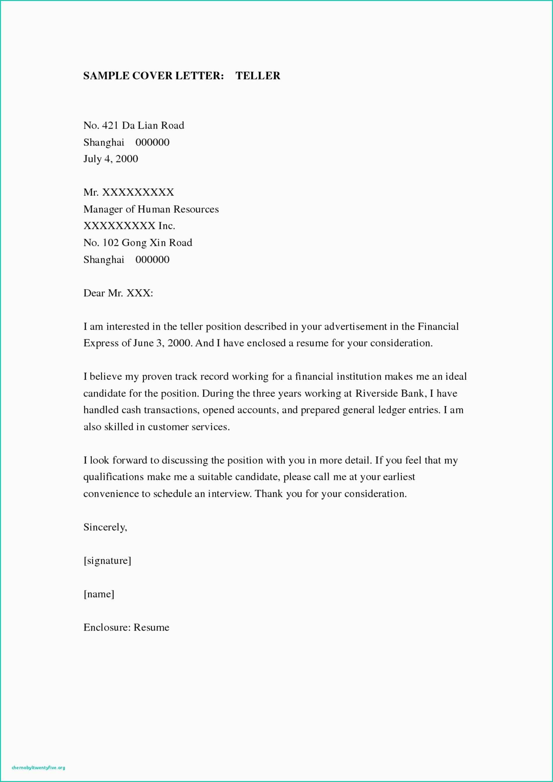 23 Bank Teller Cover Letter Lettering Cover Letter For Resume