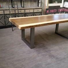 Meuble Industriel Table De Salle A Manger En Ayous Massif 8 Cm