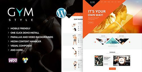 health club wordpress template  ThemeForest - GYM v1.1 - Sport