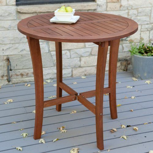 Arbor Patio Bar Height Dining Table By Coral Coast. $399.98. Some Assembly  Is Required. Round Bar Table Of FSC Certified Eucalyptus Wood.