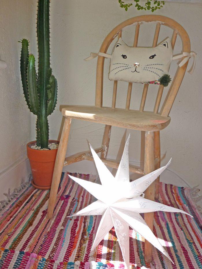 Green pompom on retro chair Retro chair, Chair, Wishbone