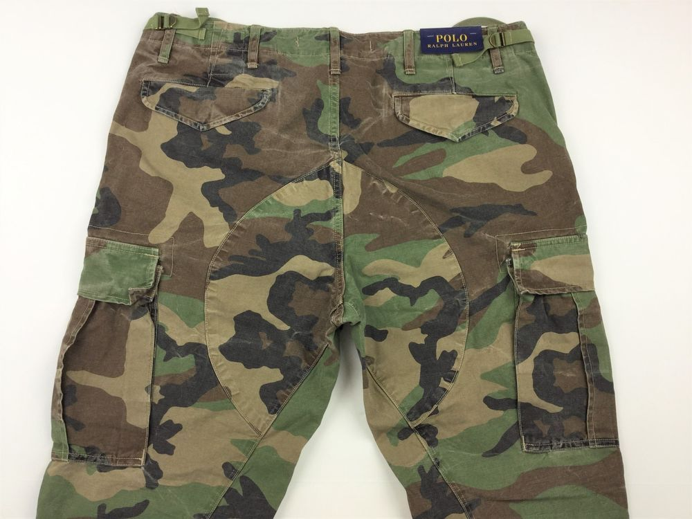 477e2df72e7b6 Polo Ralph Lauren Men M43 Corozo Military Army Camo Cargo Pants Jeans 36x32  #PoloRalphLauren #Cargo