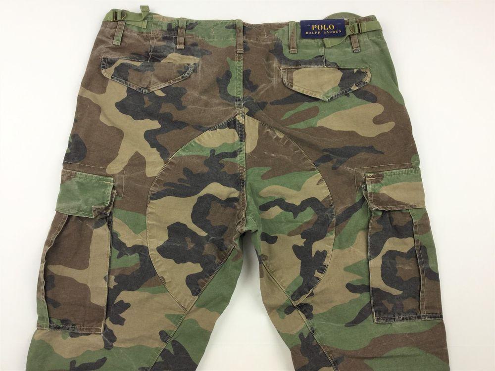 758fee253 Polo Ralph Lauren Men M43 Corozo Military Army Camo Cargo Pants Jeans 36x32   PoloRalphLauren  Cargo
