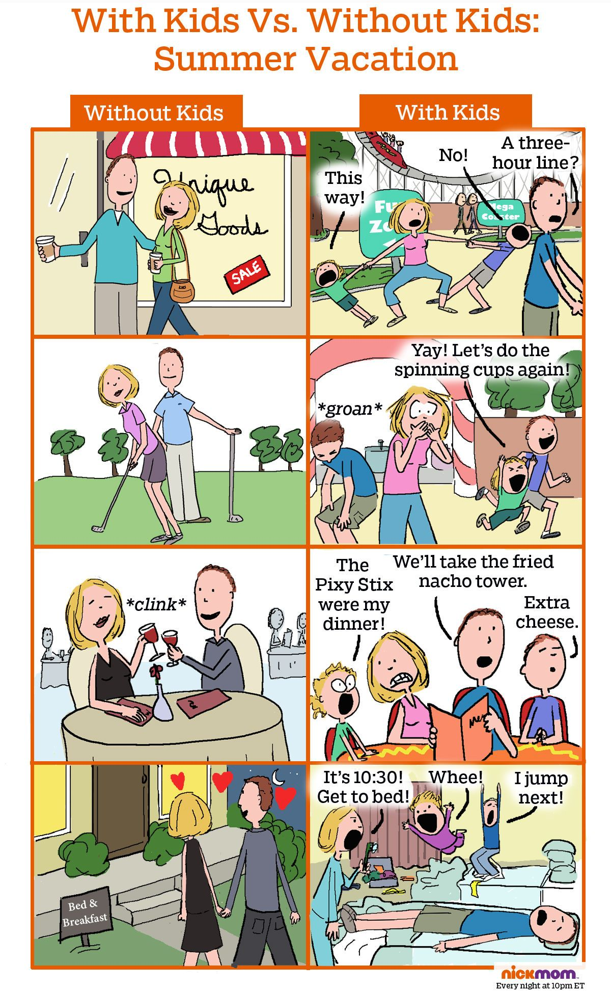 With Kids Vs Without Kids Summer Vacation Motherhood Funny Funny Kids Mom Humor