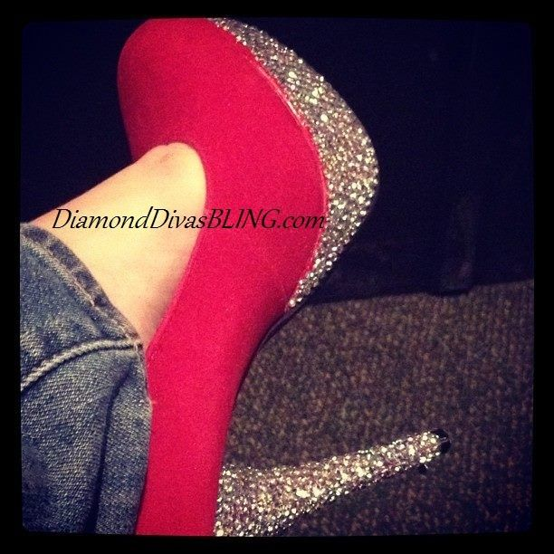 2f8bf087a5e4 Hot Pink Heel With Diamonds