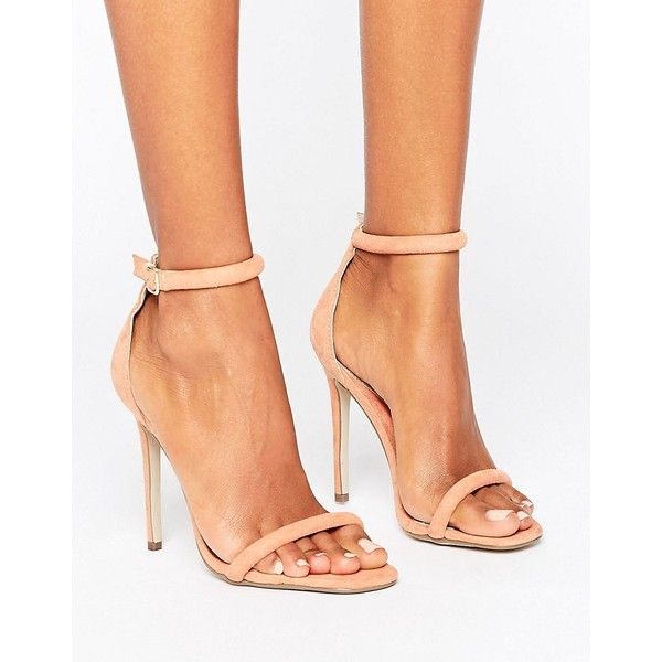2c4347bfa54 Missguided Barely There Ankle Strap Heeled Sandals (€23) ❤ liked on Polyvore  featuring