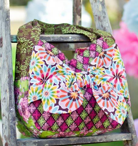 Luscious Bow Tote Free Pattern: Robert Kaufman Fabric Company ...