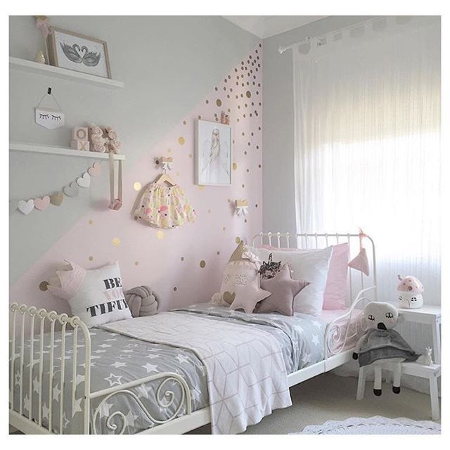 roze met gouden stippen Room decor Pinterest Kids rooms, Room - Childrens Bedroom Ideas
