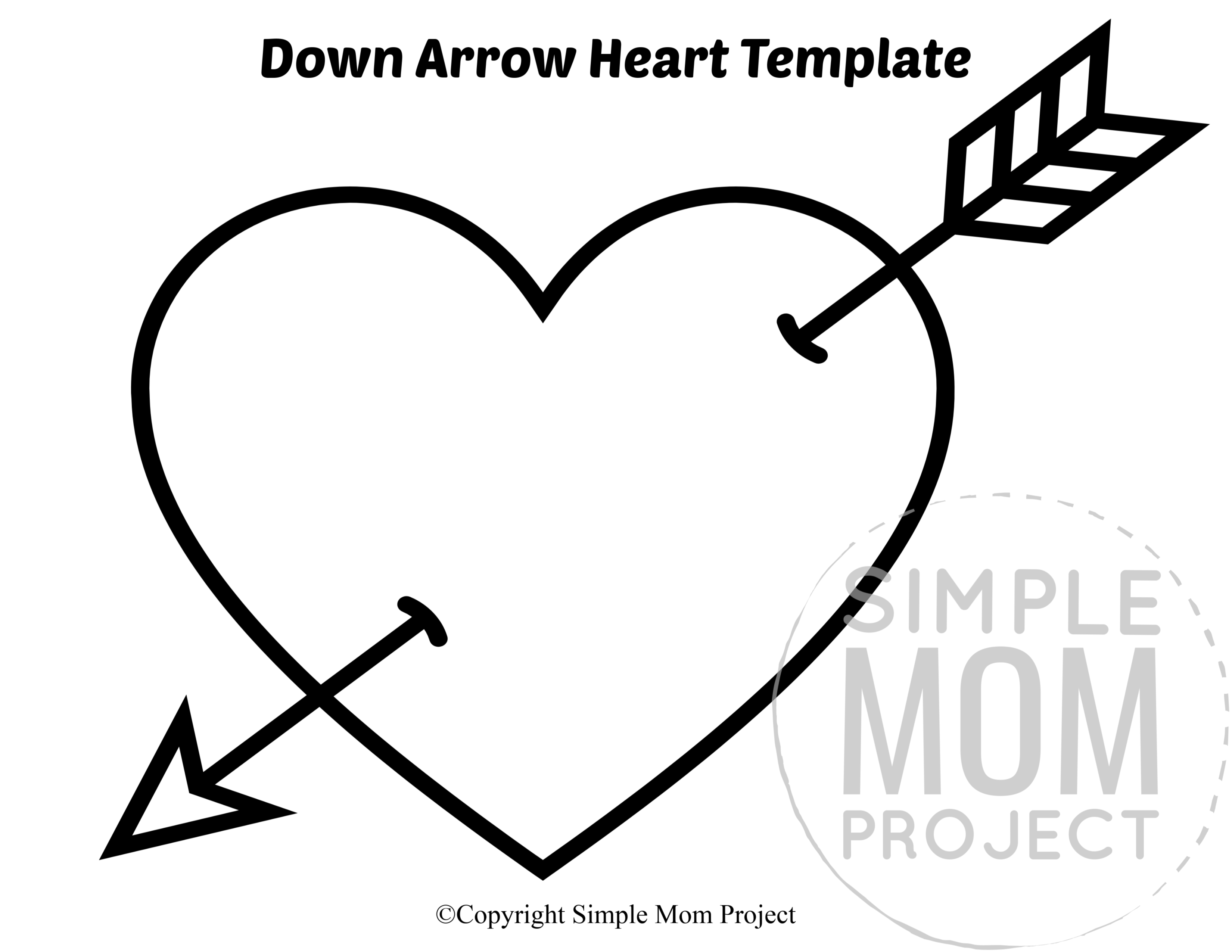 Free Printable Large Heart Shape Templates In