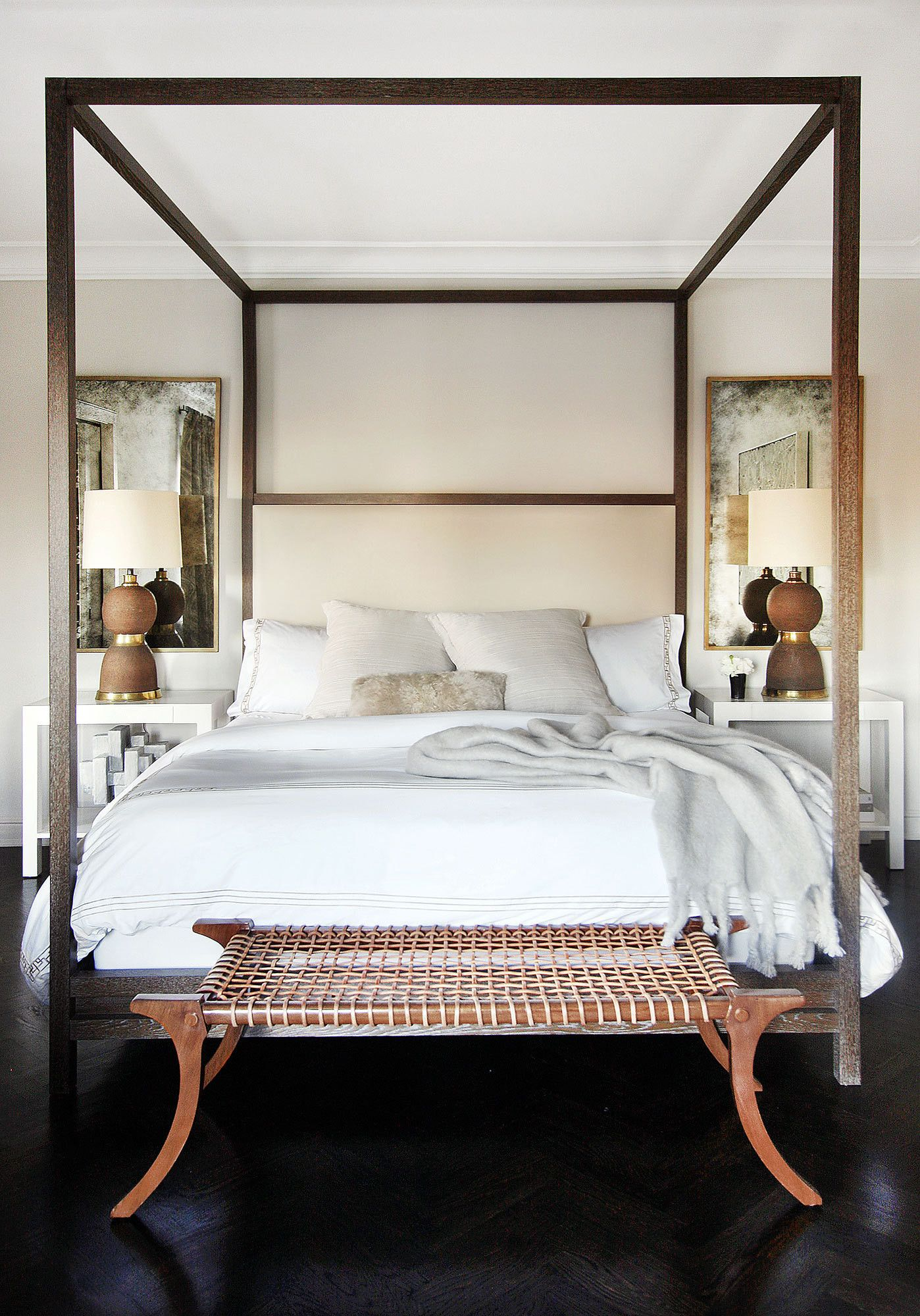 Rieten Bed Glamour In The Suburbs In 2019 Interieur Master Bedroom