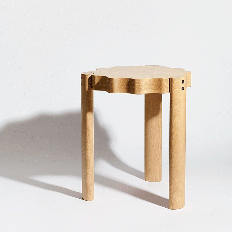 "The Ace Stool a stool-cum-side-table by Philippe Malouin has a distinct gear' design ""that looks more like modernist decor than something beholden to Dame Function if you stack a grip of them. For the public spaces at the Ace Hotel London Shoreditch. #LDF15 #gears @philpm  Photo by Marius W Hansen. by moco_loco"