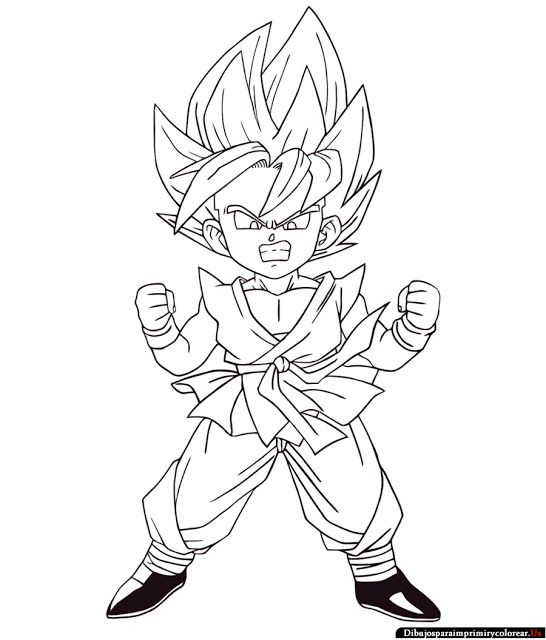 Dibujos De Dragon Ball Gt Para Imprimir Y Colorear