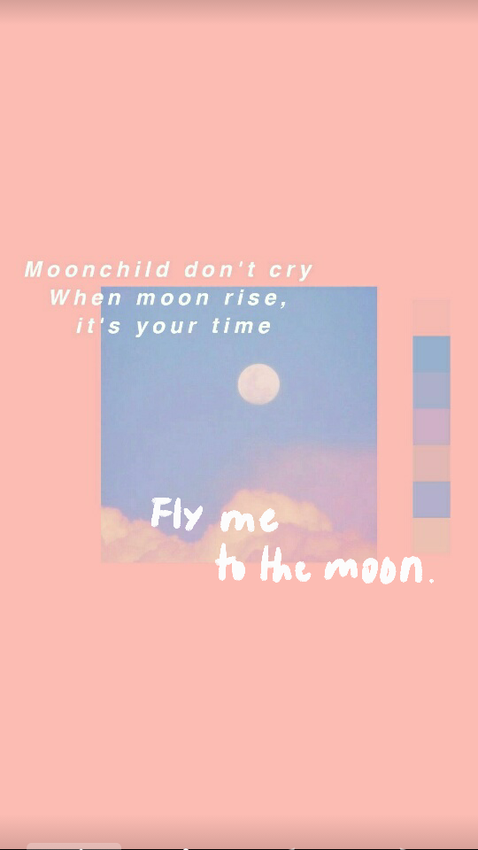 Moon Aesthetic Fly Me To The Moon Wallpapers Aesthetic Pink