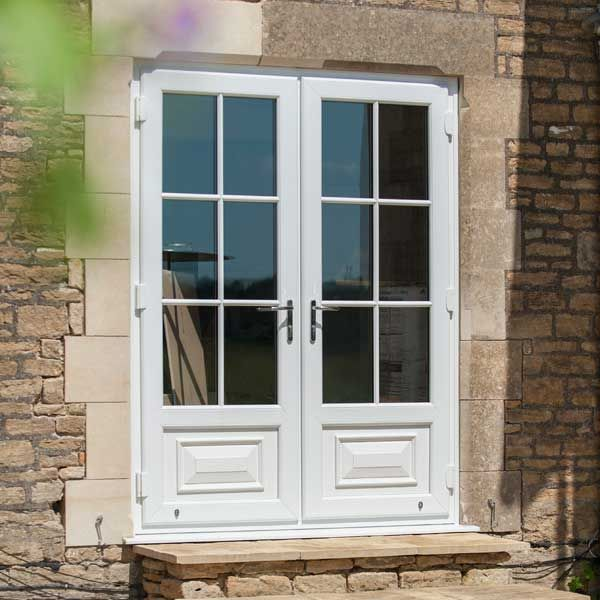 Upvc french doors double doors inspire fenton lee for Upvc balcony doors