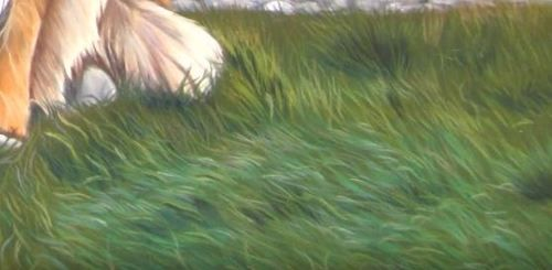 comment peindre l herbe pastel sec pour cr er l herbe aux pastels je commence par r aliser ma. Black Bedroom Furniture Sets. Home Design Ideas