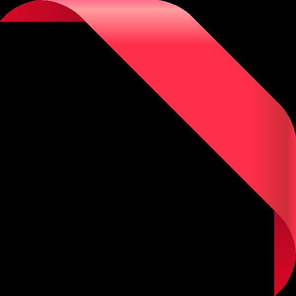 Corner Ribbon Png Ribbon Png Typography Graphic Design
