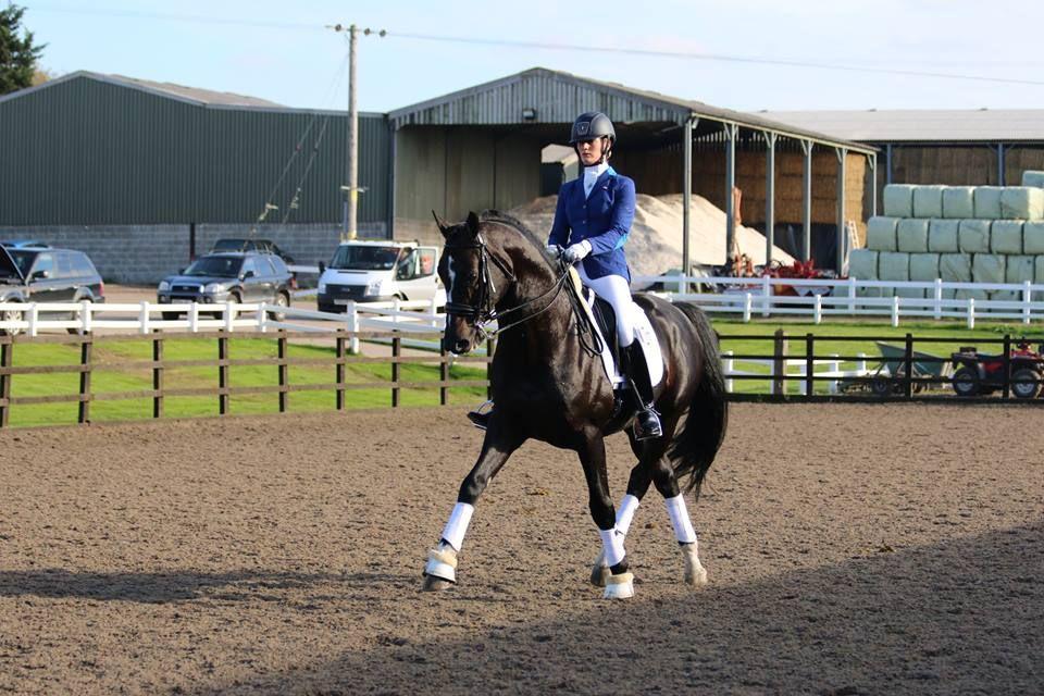 Dressage Rider Emma Woolley & Eldorado - both horse & rider wearing Caldene #Scopejacket