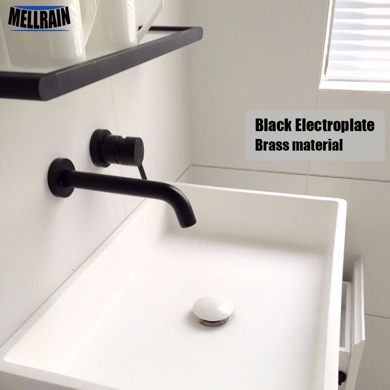 Aliexpress.com : Buy High Quality Black Wall Mounted Bathroom Faucet  Rotation Brass Wall Mounted