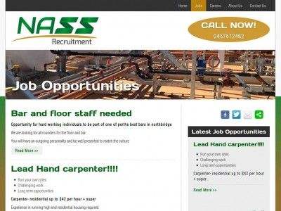 This Is A Website That We Designed For Nass Recruitment A Recruitment Labour Hire Company For Jobs In Job Website Online Marketing Services Western Australia