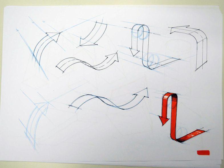 Arrows Sketch Design Industrial Design Sketch Design Sketch