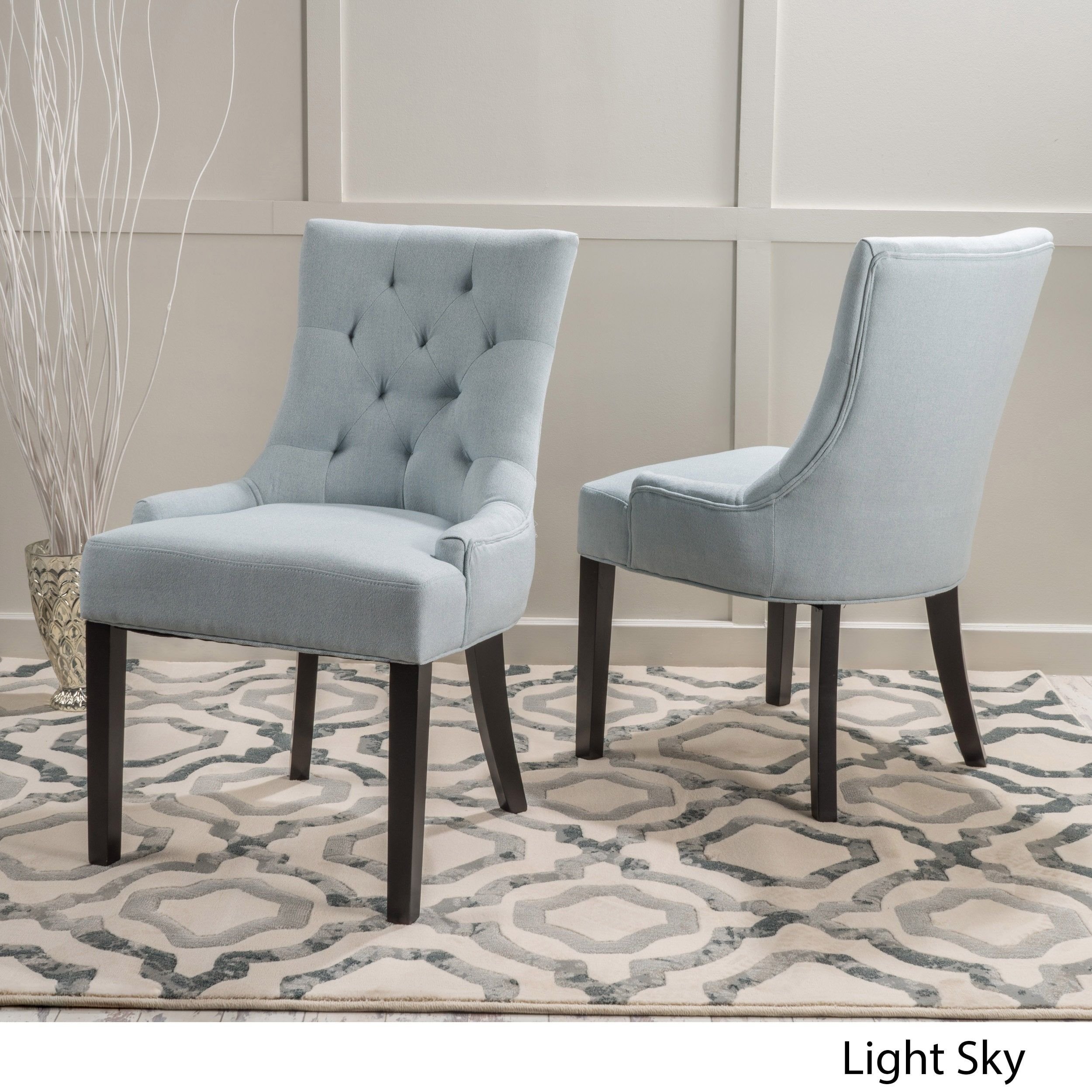 Best Hayden Tufted Fabric Dining Accent Chair Set Of 2 By 400 x 300