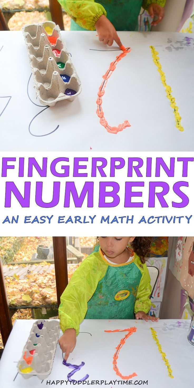 Photo of Fingerprint Numbers – HAPPY TODDLER PLAYTIME