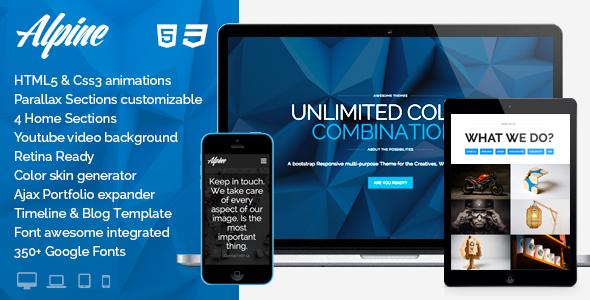 Alpine - WordPress Responsive One Page Parallax | Wordpress, Website ...