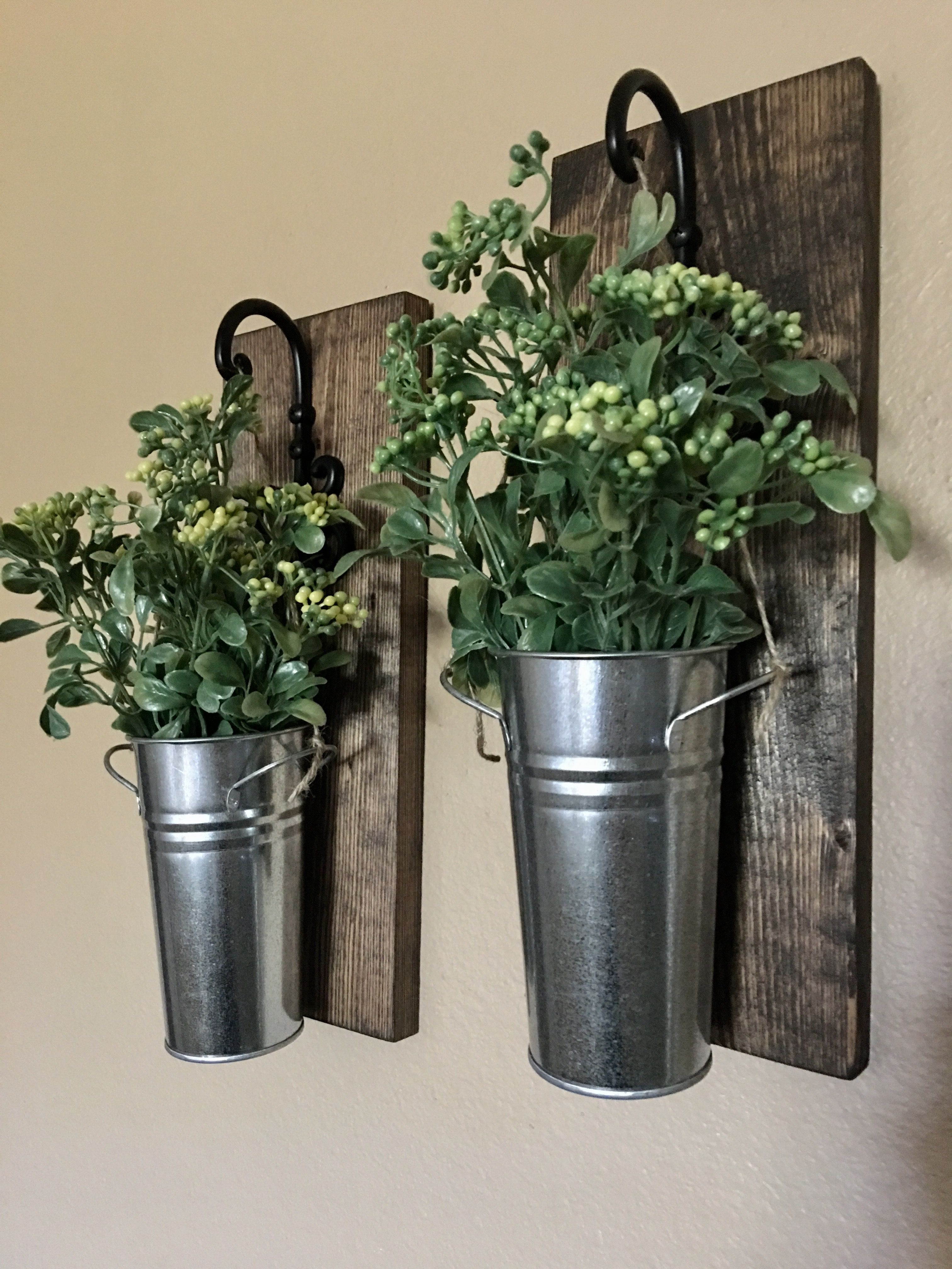 check out 34296 7ce05 Set of two galvanized metal pail sconces. | Rustic Decor in ...
