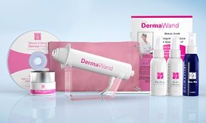 Dermawand Kit With Four Skincare Creams And A Pink Travel Case Skin Care Cream Anti Aging System Skin Care Devices