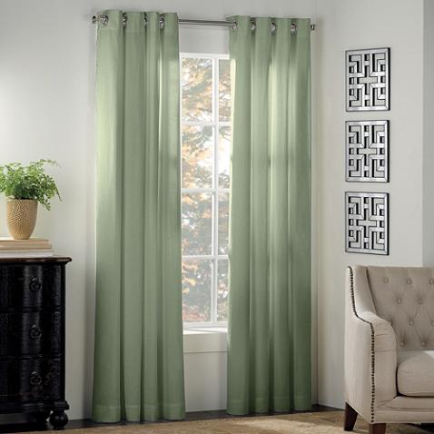 Newport Grommet Window Curtain Panel Drapes Curtains Sage