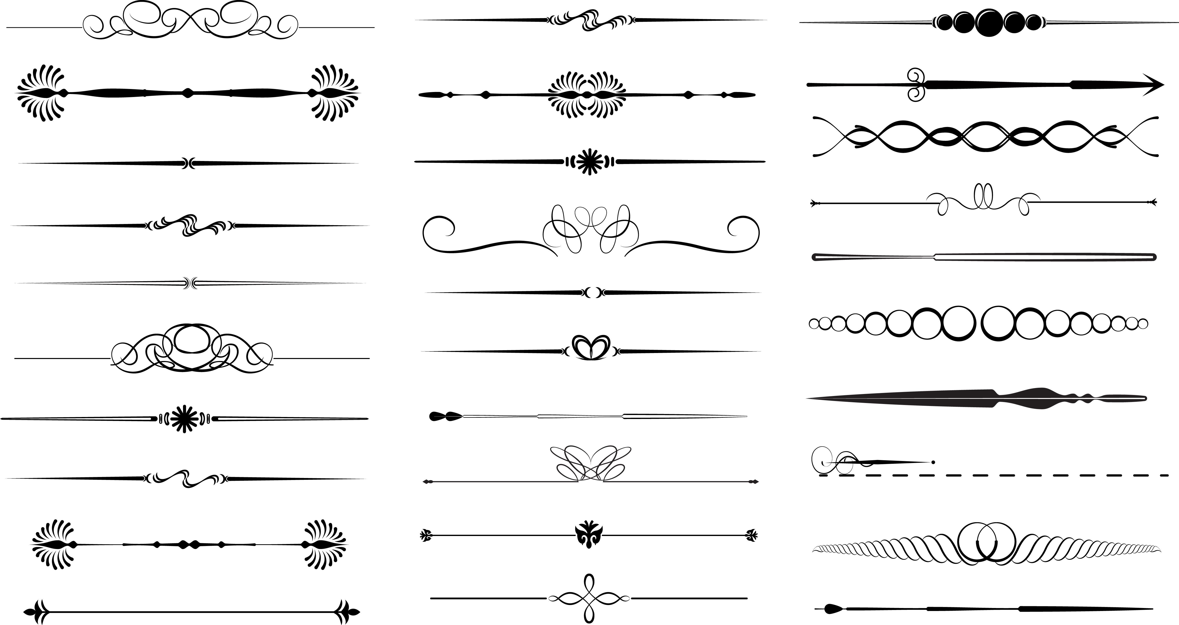 Decorative Line Divider Png Images To Bookmark 飾り罫 案内状 デザイン