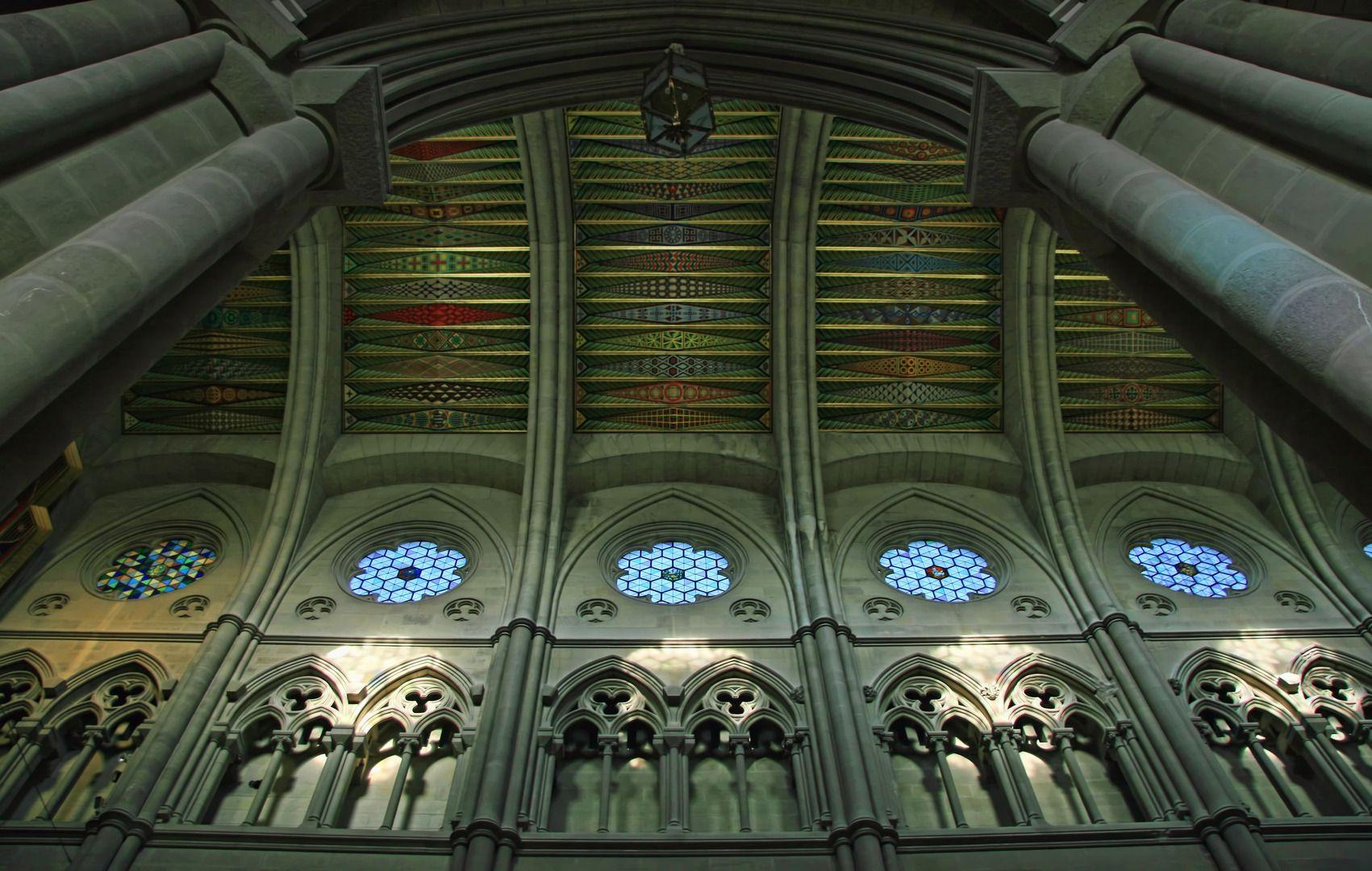 Catedral de la Almudena de Madrid, Interior. Madrid, Spain ...