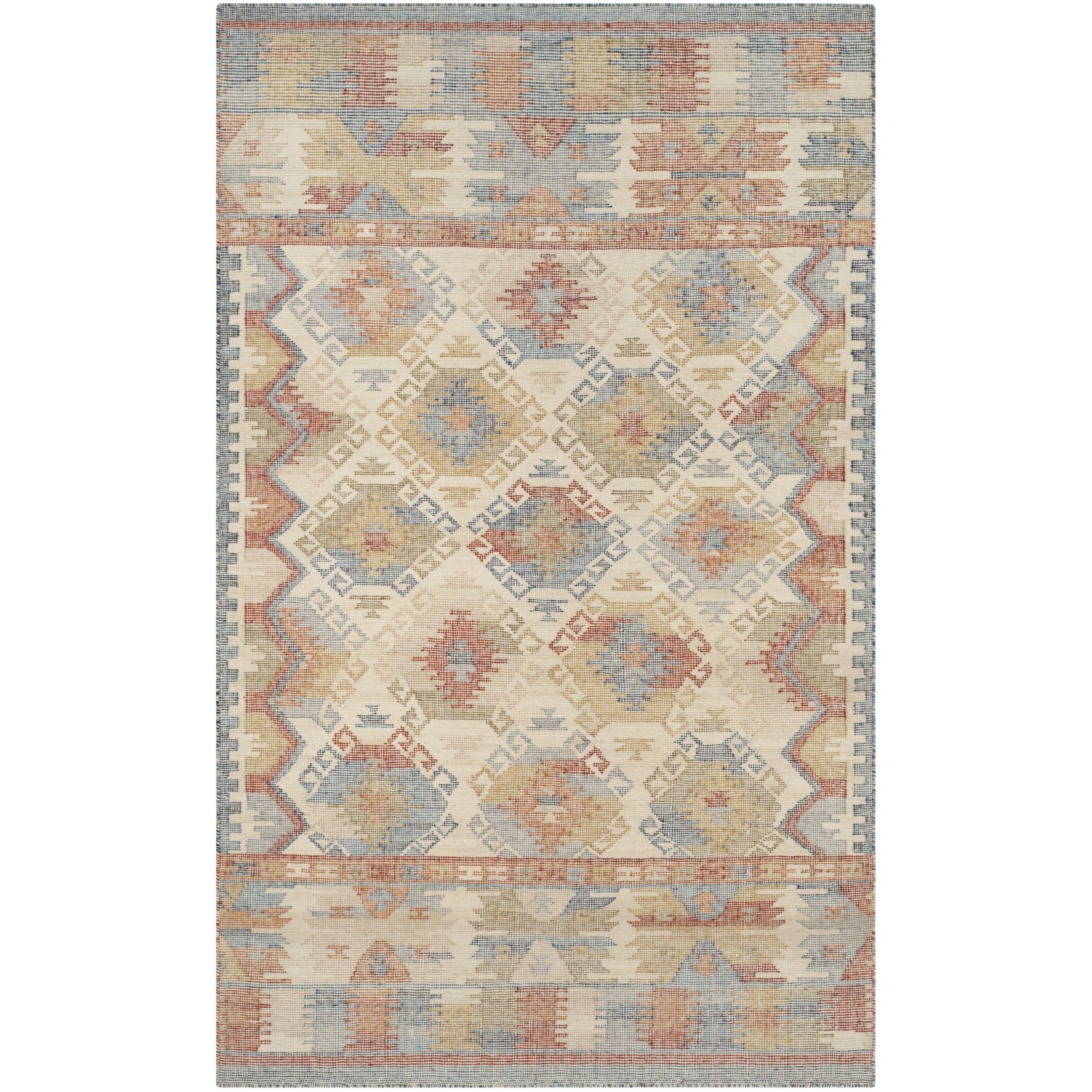 Safavieh Canyon Hand Woven Ivory Multi Wool Area Rug 4 X 6