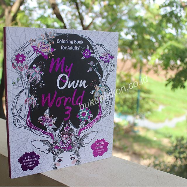 Book My Own World 3 Coloring Book For Adults Family Edition