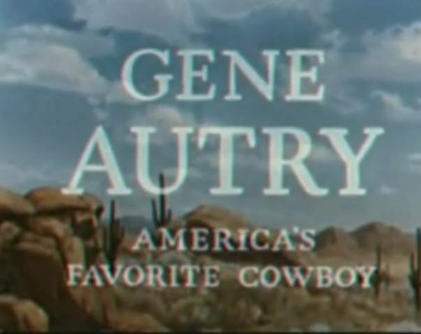 Yesterday Television The Gene Autry Show Gene