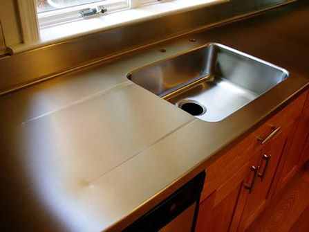 1 2 Stainless Steel Countertop With Integral Sink