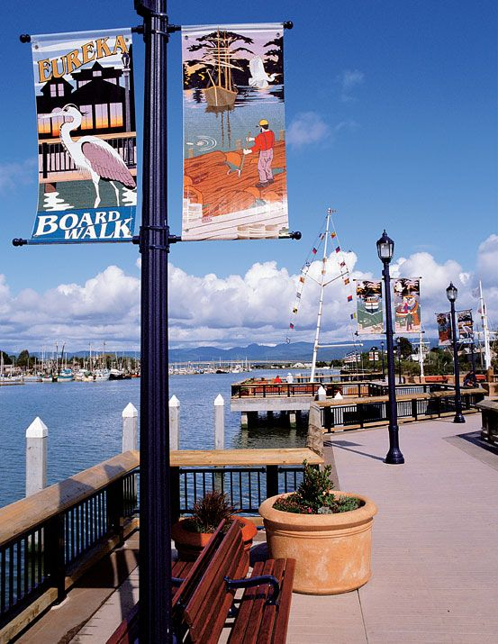 Eureka, CA  On the Boardwalk. When I moved here this was empty fields and waterfront dives. The waterfront has been gentrified.